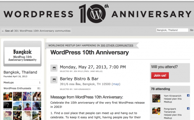 WordPress10周年イベント in Bangkok!