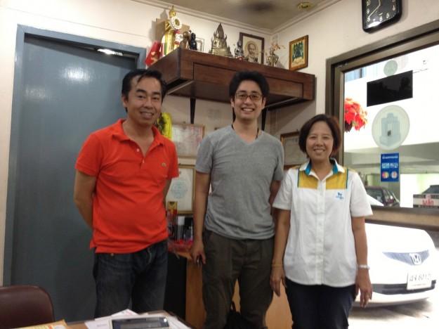 左が山本さん、右はマンションの管理をされている女性でめっちゃ優しい(*^_^*)