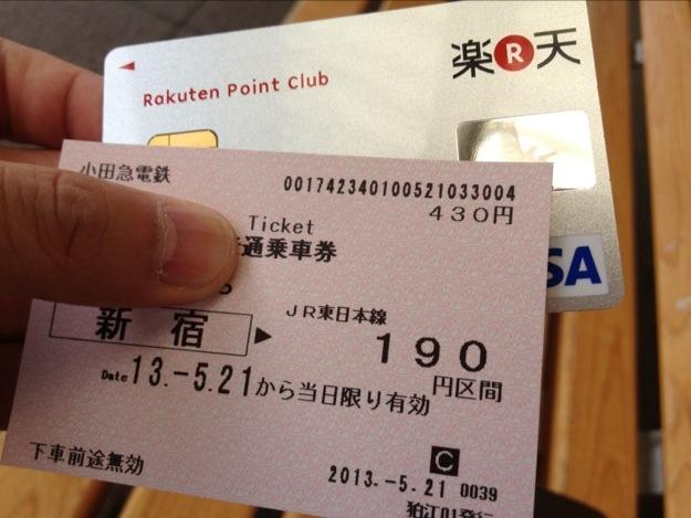 小田急線のチケットを楽天カードで買うことで、海外旅行傷害保険に入ることができる